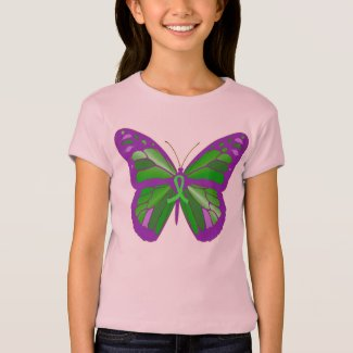 Kids 4 Lyme Disease Butterfly Awareness Shirt
