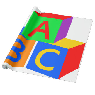 Kids ABC Blocks - Wrapping Paper
