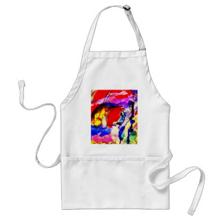 Kids Abstract Art Rainbow Fish in Colorful Sea Apron