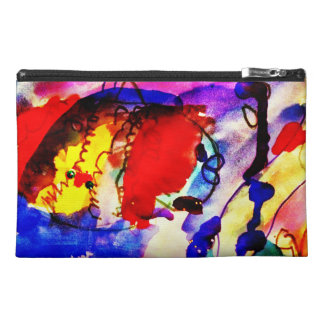 Kids Abstract Art Rainbow Fish in Colorful Sea Travel Accessories Bag
