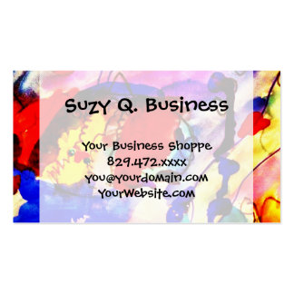 Kids Abstract Art Rainbow Fish in Colorful Sea Double-Sided Standard Business Cards (Pack Of 100)