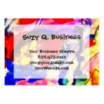 Kids Abstract Art Rainbow Fish in Colorful Sea Business Card Template