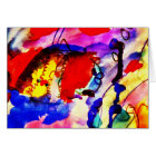Kids Abstract Art Rainbow Fish in Colorful Sea Card