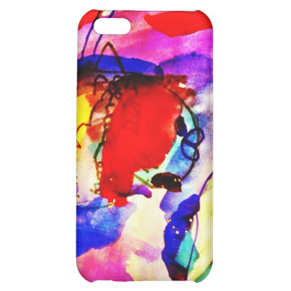 Kids Abstract Art Rainbow Fish in Colorful Sea iPhone 5C Cover