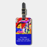 Kids Abstract Art Rainbow Fish in Colorful Sea Bag Tag