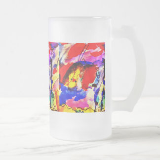 Kids Abstract Art Rainbow Fish in Colorful Sea Coffee Mug