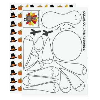Kids Activity Thanksgiving Card