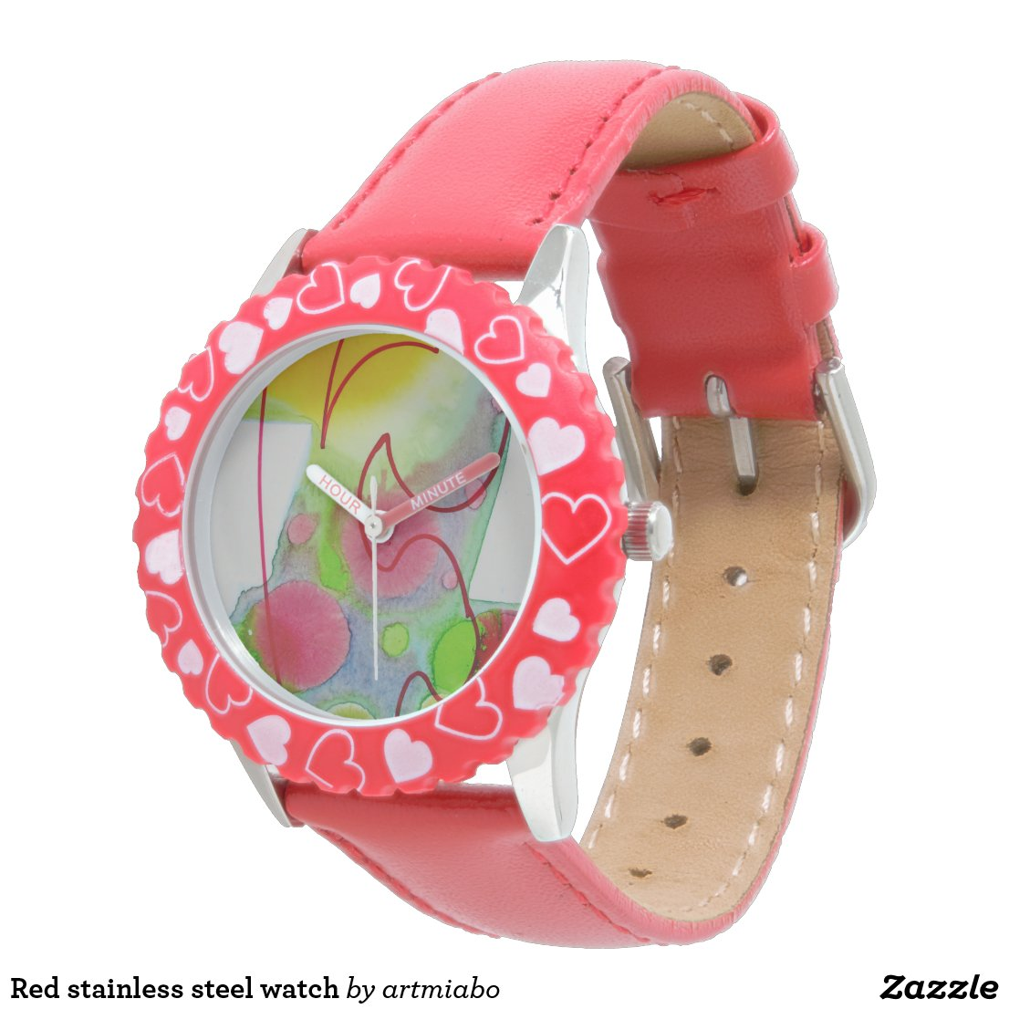 kids adjustable bezel stainless steel watch