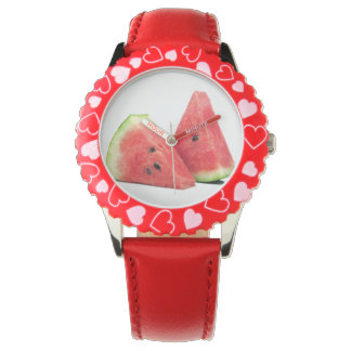 Kid's Adjustable Bezel Stainless Steel with Red N Wristwatch