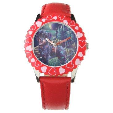 Halloween Themed Kid's Adjustable custom watch Roxy The Rottweiler