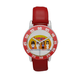 Kid's Adjustable Red Watch