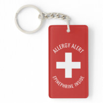 Kids Allergy Alert Epinephrine Inside Emergency Keychain