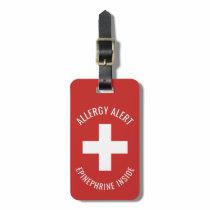 Kids Allergy Alert Epinephrine Inside Emergency Luggage Tag