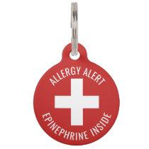 Kids Allergy Alert Epinephrine Inside Emergency Pet ID Tag