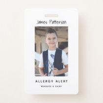 Kids Allergy Alert ICOE Custom Photo Warning Badge