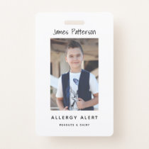 Kids Allergy Alert ICOE Custom Photo Warning Badge