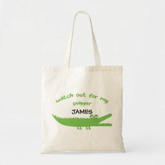 Kids Alligator Personalized Tote Bag