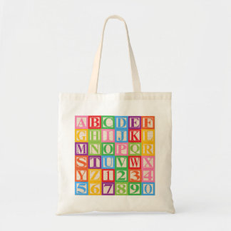 Kids' Alphabet and Numerals Tote Bag