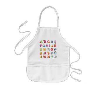 kids alphabet apron