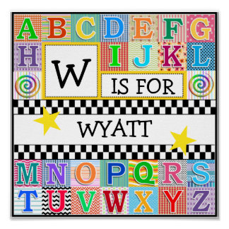 Kids Alphabet Art 11x11 Personalized Posters