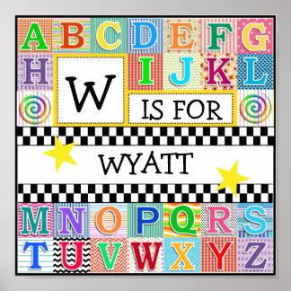 Kids Alphabet Art 11x11 Personalized Poster