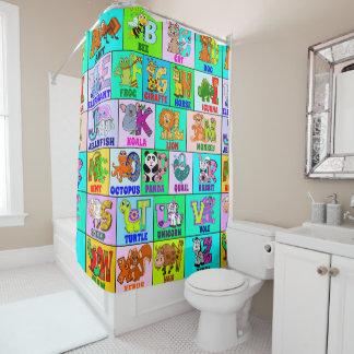 Kids Alphabet Shower Curtain