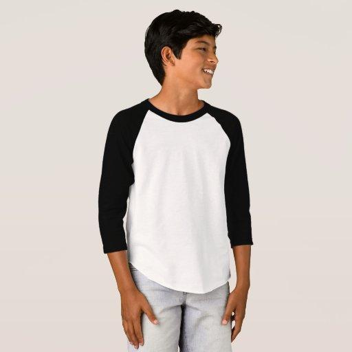 Boys 39 american apparel 3 4 sleeve raglan t shirt zazzle for 3 4 sleeve shirt template