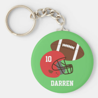 Kids American Football Helmet Name Keychain