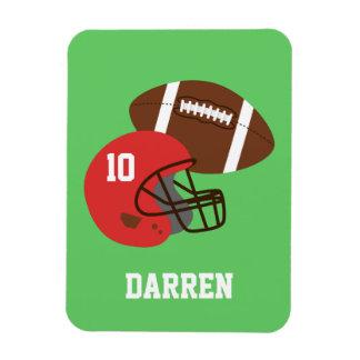 Kids American Football Helmet Name Magnet