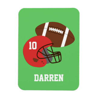 Kids American Football Helmet Name Vinyl Magnet