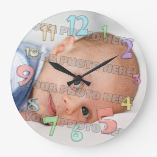 Kids and Baby Picture Wall Clock