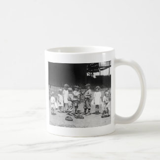 Kids and Baseball, early 1900s Coffee Mug