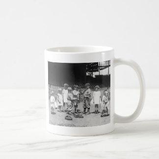 Kids and Baseball, early 1900s Coffee Mug