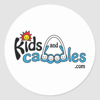 Kids and Caboodles com Round Stickers