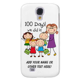 Kids and Female Teacher 100 Days Galaxy S4 Cover