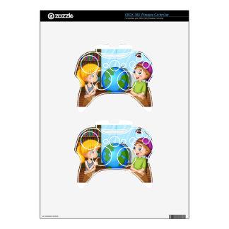 Kids and globe xbox 360 controller skin
