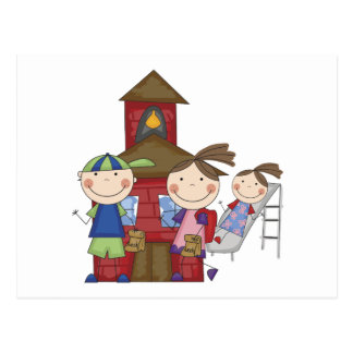 Kids and Schoolhouse T-shirts and Gifts Postcard