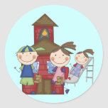 Kids and Schoolhouse T-shirts and Gifts Stickers