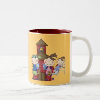 Kids and Schoolhouse T-shirts and Gifts Two-Tone Coffee Mug