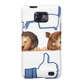 kids and white board samsung galaxy s2 case