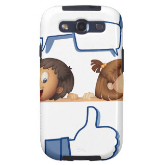 kids and white board galaxy s3 cases