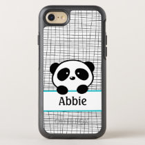 Kids Animal Aqua Black Panda Bear OtterBox Symmetry iPhone 7 Case