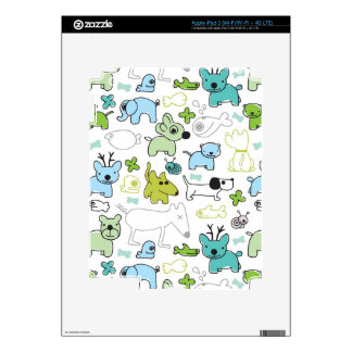 kids animal background pattern iPad 3 skin