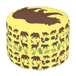 Round Animal Pillows : Animals Poufs Pillows & Ottomans Zazzle