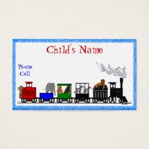 Kid's Animal Train Calling Card
