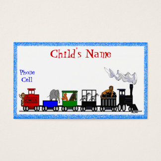 Kid's Animal Train Calling Card