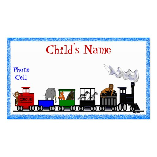 Kid's Animal Train Calling Card Business Card