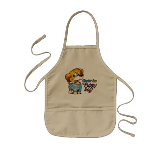 Kids Apron From Chester Leo: The Puppy Dog!