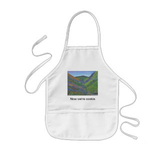 "Kid's Apron ""Now we're cookin"" - Spring in Mnts"