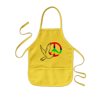 Kids Apron Peace Dove